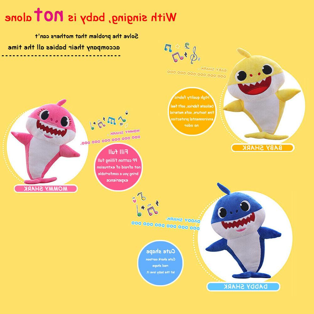 Baby Shark LED Light Music Doll Toy