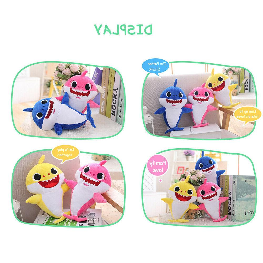 Baby Shark LED Music Doll English Song Toy Gift