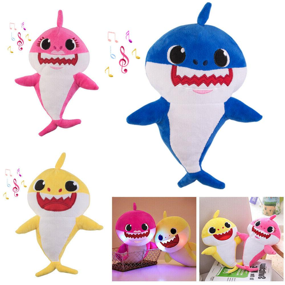 baby shark plush singing led light plush