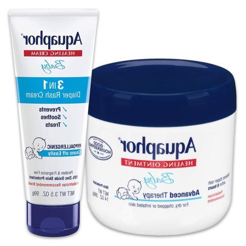 Aquaphor Baby Skin Care Set - Fragrance Free, Prevents, Soot