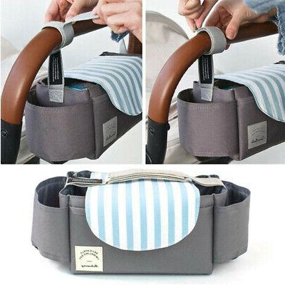 Storage Bag Cup Holders Diaper Pocket Convenient Baby Stroll