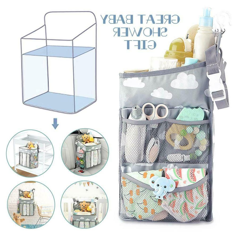 Baby Stroller Hanging Bag Pouch Nursery Organizer Multifunct