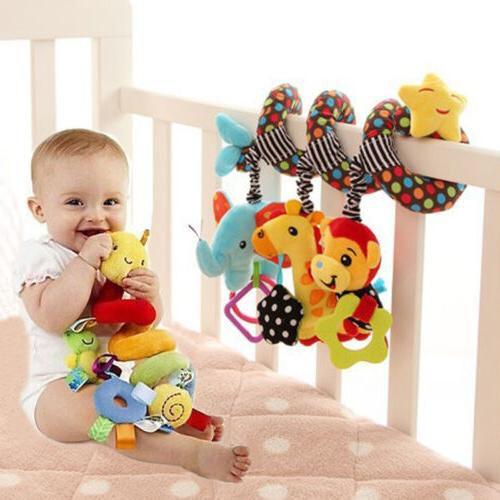 Hanging Toys for Car Seat Crib Mobile Infant Baby Spiral Plu
