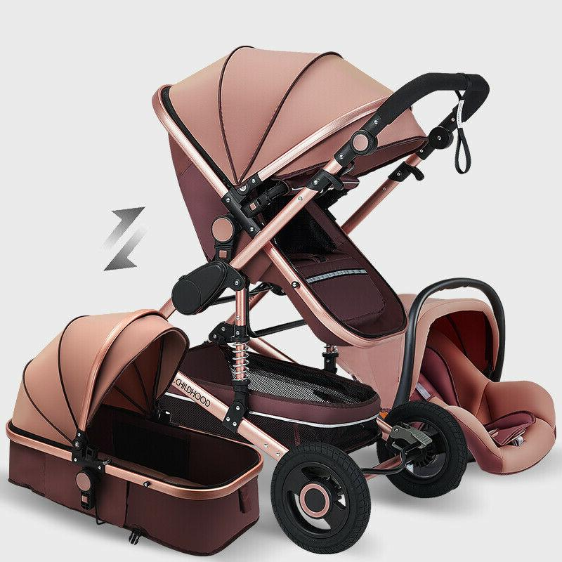 Baby Stroller 3 in 1 Newborn Infant Bassinet Travel System w
