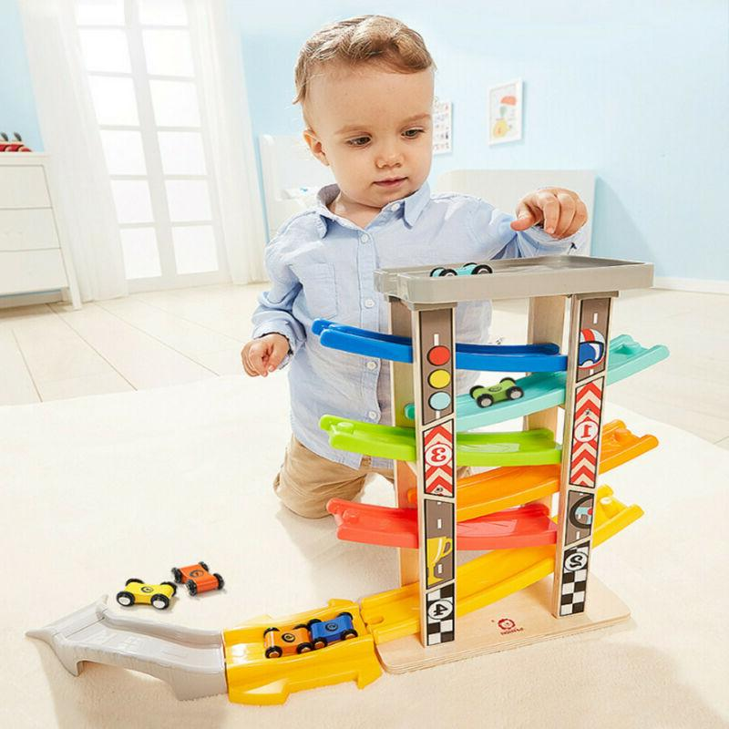 Toddler Toys Track Boys And Girls Gifts Wood Car Ramp Racing