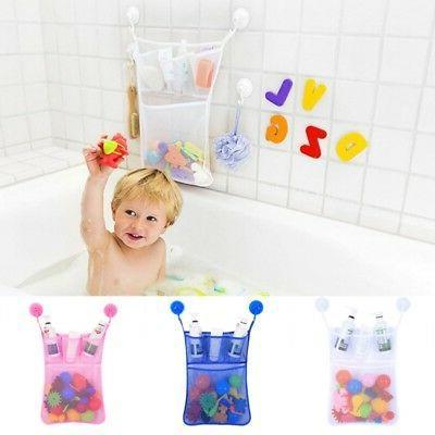 Baby Bath Bathtub Toy Mesh Net Storage Bag Holder Suction Cu