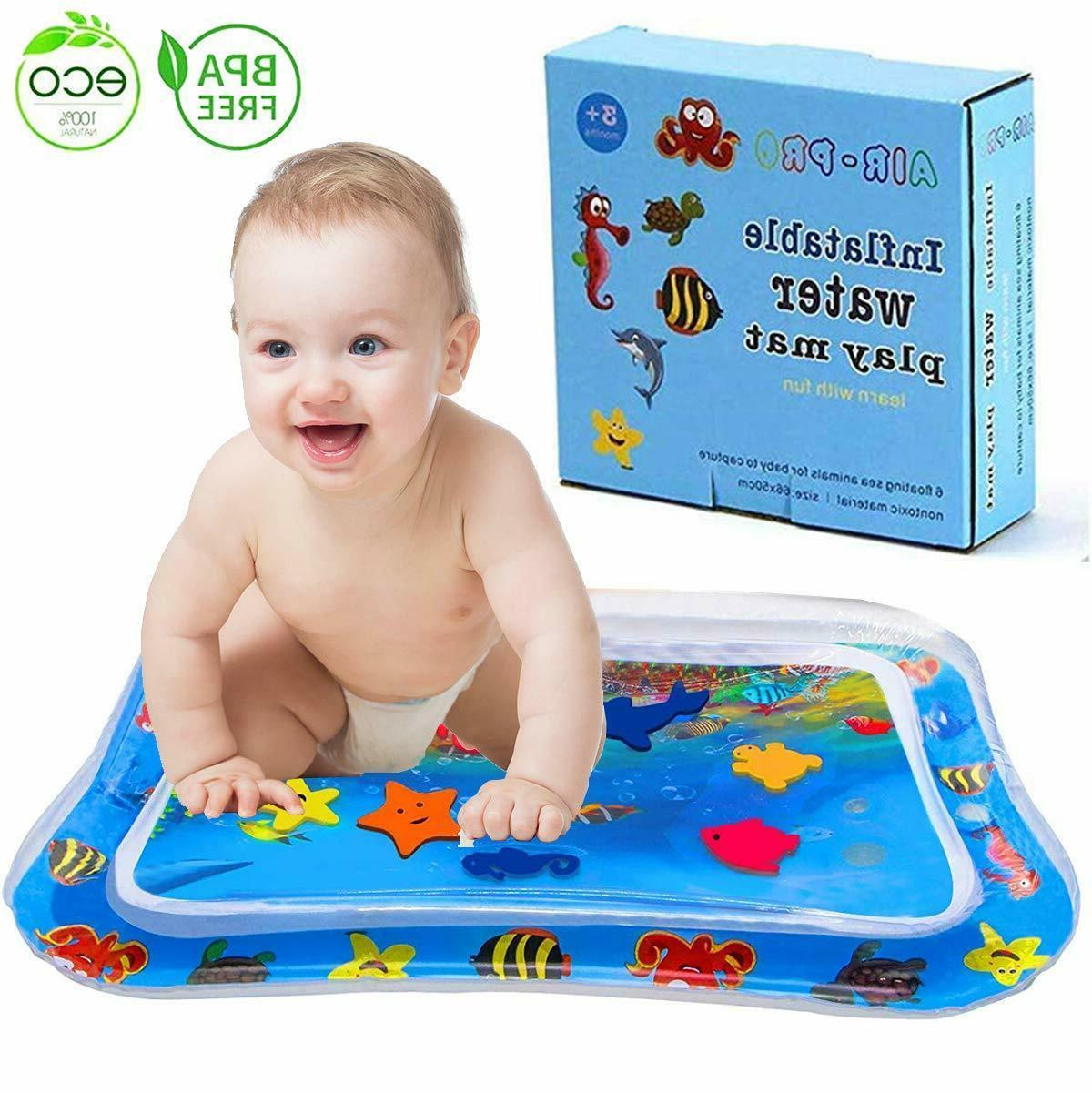 Baby Water Tummy Time Mat floor Activity Kids