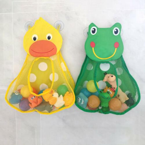 Bath Baby Play Water Duck Frog Toys Storage Bag Kids Daily N