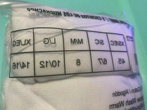 pack briefs size XL 14/16 white 100% cotton underwear