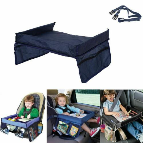 Baby Car Seat Storage Tray Holder Lunch Table Child Kids Toy