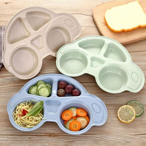 Baby Toddler Plastic Placemat Plate Dish Food Tray Kids Cart