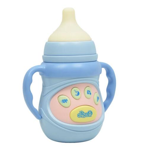 creative electronic and musical feeding bottle baby