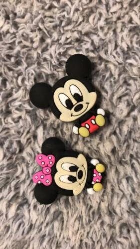 Croc / : LOT - Baby Mickey Mouse, Minnie, LogoLetters