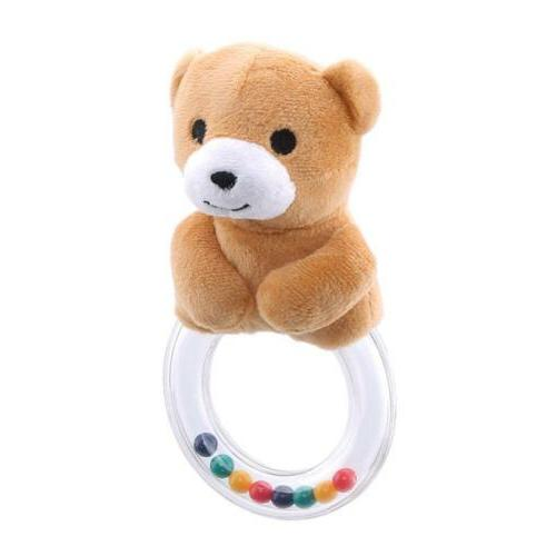 Lovely Baby Rattles Ring Animal Rattles Interactive Toy Plus