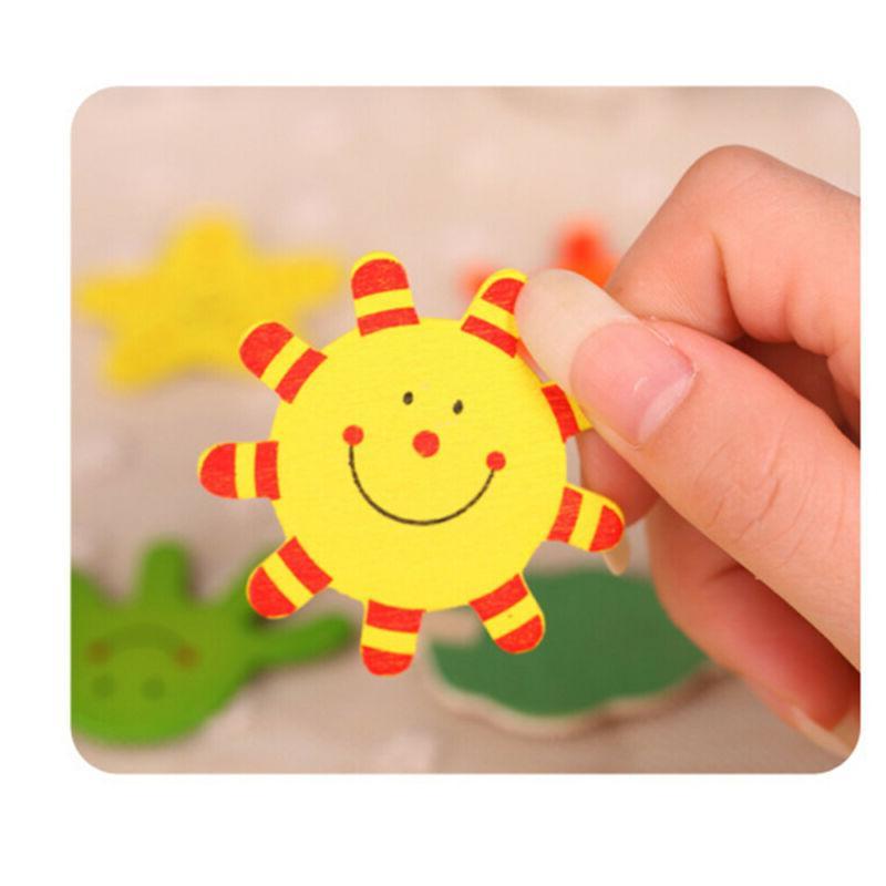Cute Early Educational Baby Toy Kids Wood Animal Fridge Magnet