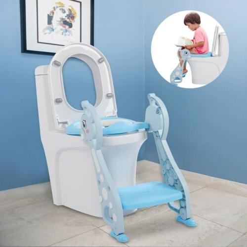 Kids Potty with Step Stool Toilet Toddler