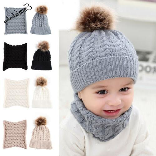 Cute Girl&Boy Baby Warm Crochet Hat Beanie Cap