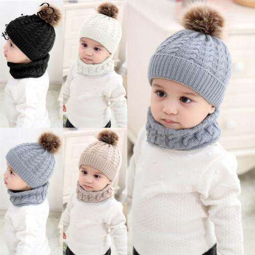 Cute Toddler Baby Infant Warm Crochet Hat Cap