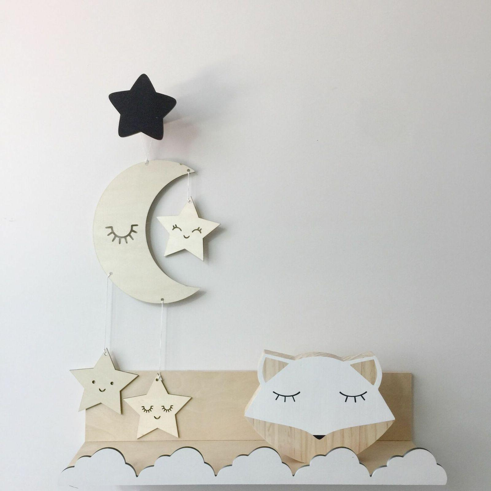 Decor Children's Decor Baby Room Cloud Star Girl