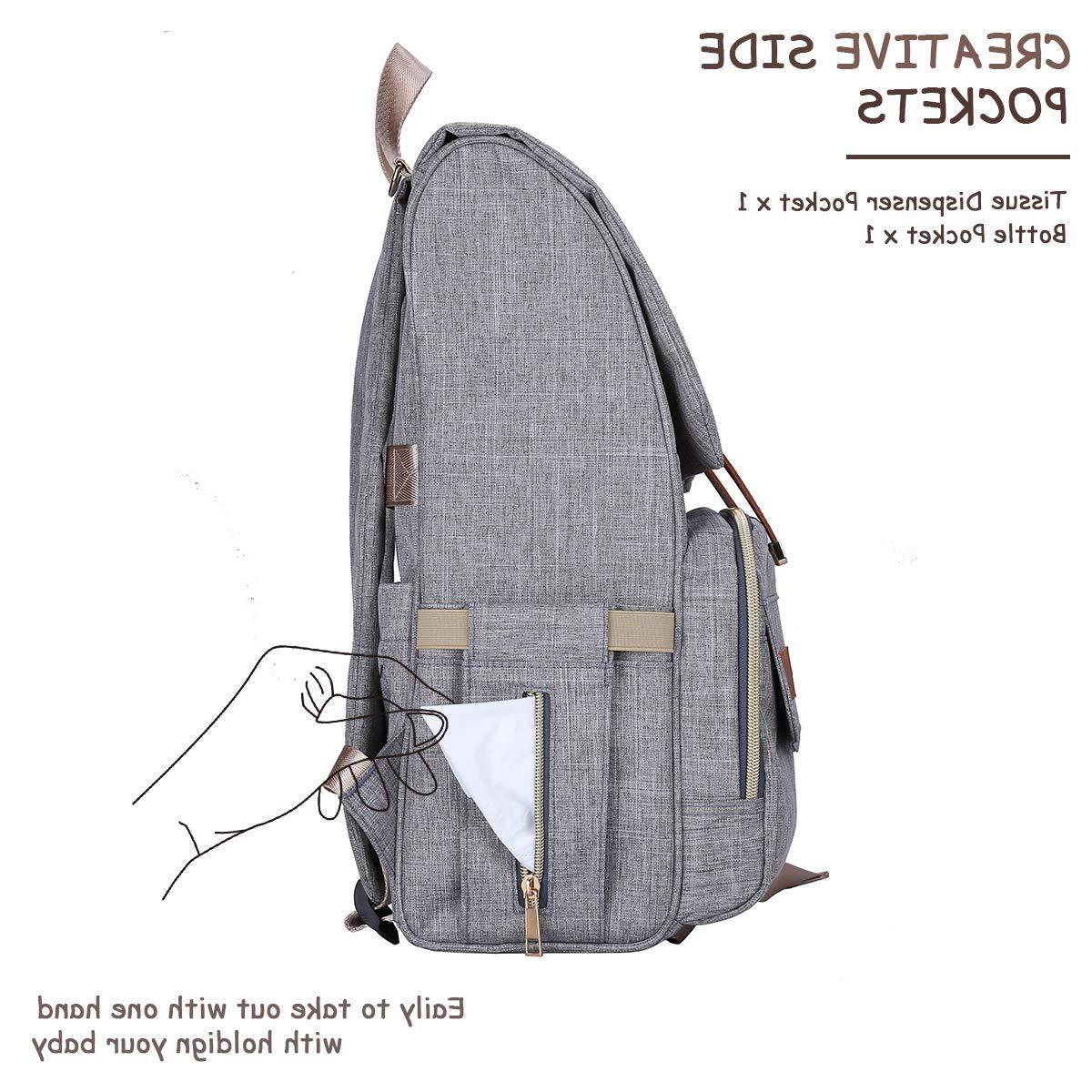 Diaper Backpack,Baby Diaper Bag for Girls Boys,Multi-Function,Waterproof