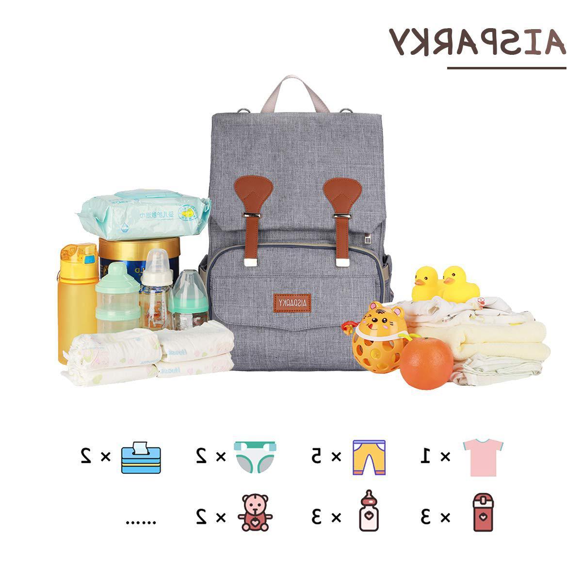 Diaper Backpack,Baby Bag Boys,Multi-Function,Waterproof