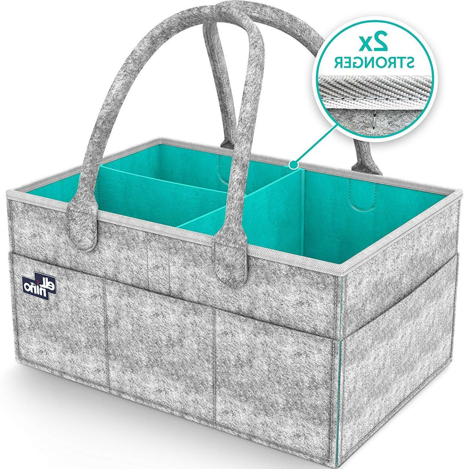 Diaper Caddy Nursery Storage Baby Organizer Basket Nappy Bin
