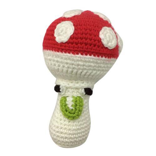 DIY Crochet Craft Kit for Cartoon 3D Mushroom Doll Making Se