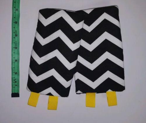 drool pads for baby carrier chevron black