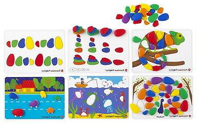 edx education rainbow sorting and stacking pebbles