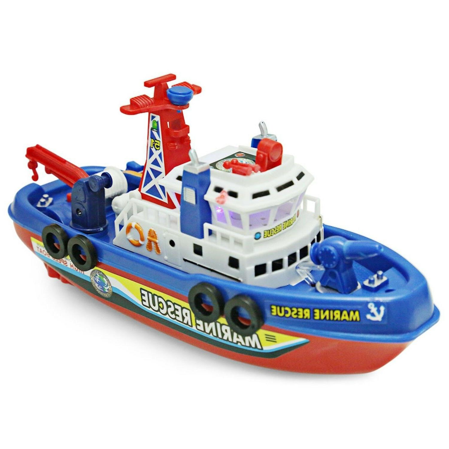 Electric Fire Boat Bath Toys With Light US