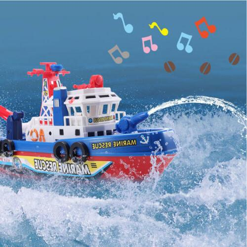 electric fire boat baby toys boy led
