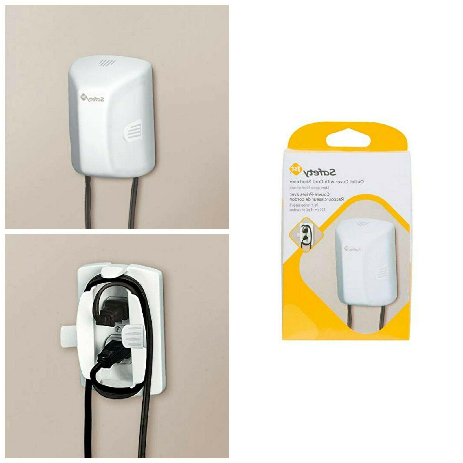 Electrical Outlet Safety Covers With Cord Shortener Baby Pro
