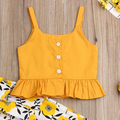 Fashion Baby Solid Vest Pants Trousers Outfit US