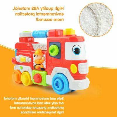 1:16 Fire Truck Learning Sound Educational Baby Toys Gifts