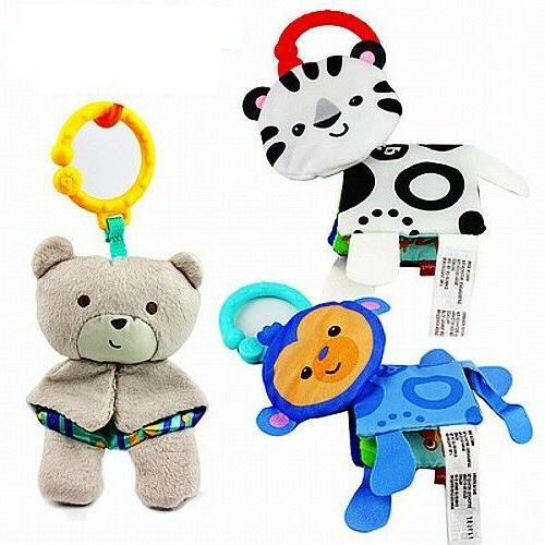 Fisher Baby Child Stroller Soft Plush Rattle Doll Toys
