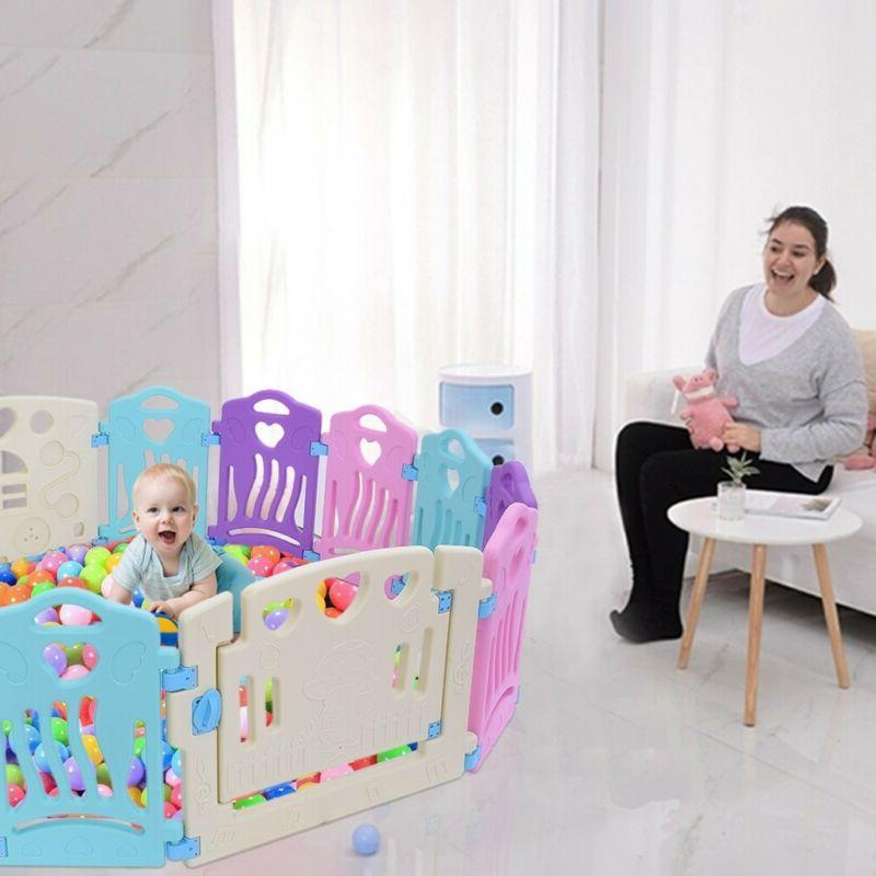 Baby Playpen Center-14 Panel Yard -Indoor, US
