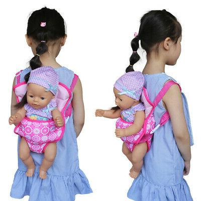 Baby Doll Carrier Sling Toy Kids Backpack Schoolbag Front Ba