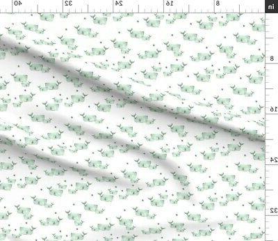 Gray Nautical Nursery Decor Fabric Printed by