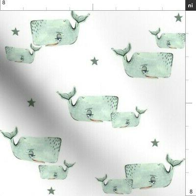 Gray Nautical Decor Fabric Printed by Spoonflower