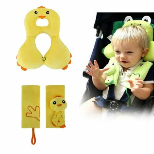 Baby Car accessories set-Belt Strap Cover,Car Seat Head Supp