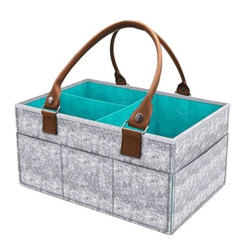 Diaper Caddy Nursery Storage Baby Organizer Basket Nappy Bin