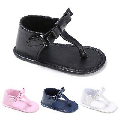 Infant Baby Girl Soft Bottom Sandals PU Leather Clothing Sne