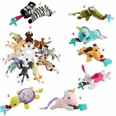 toddler baby nipple plush toy pacifier clips