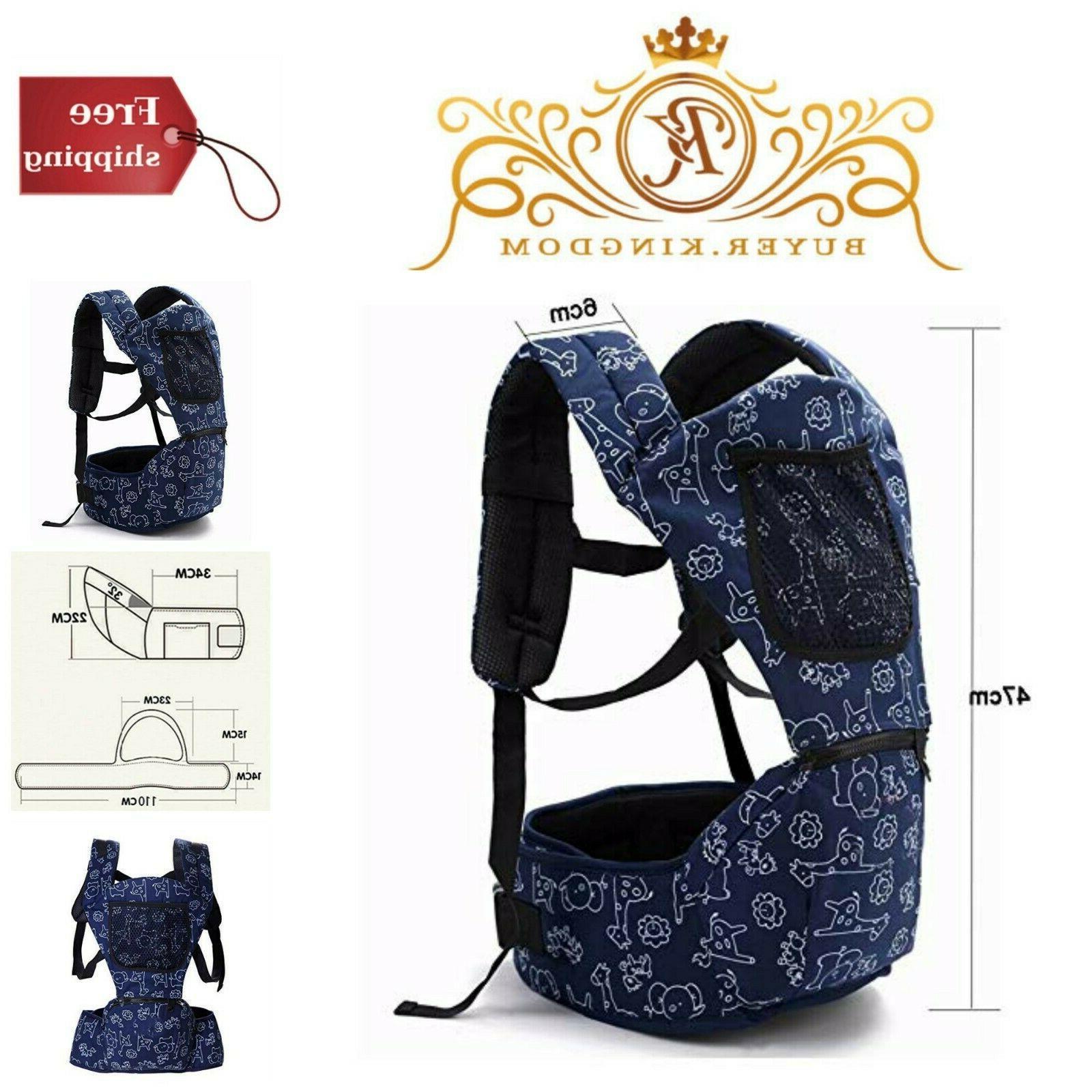 Infant Toddlers Baby Bag Carrier Ergonomic Outdoor Travel Ba
