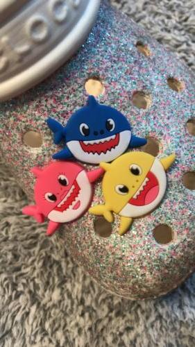 JIBBITZ 3PC SET : Shark, Mommy Daddy Shark