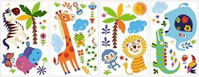 Jungle Animals Baby/Nursery Wall Sticker Decals For And Girls