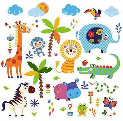 jungle animals baby nursery wall sticker decals