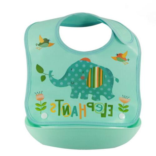 Cute Waterproof Silicone+Plastic Feeding Food