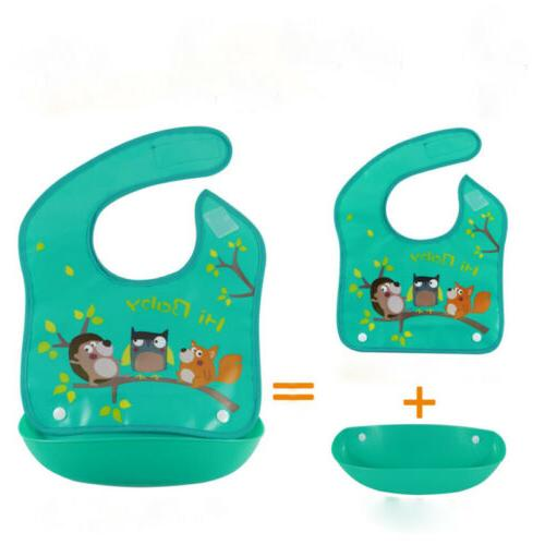 Silicone+Plastic Feeding Food Catcher