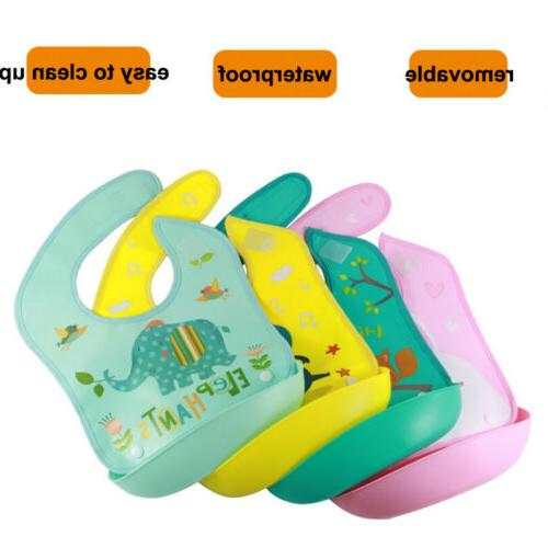 Cute Babys Silicone+Plastic Feeding Food